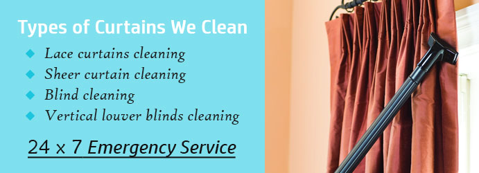 Types of Curtain Cleaning  Hilldene